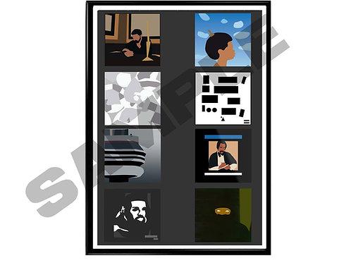 Drake Minimal Album History Poster, Hypebeast Music Poster