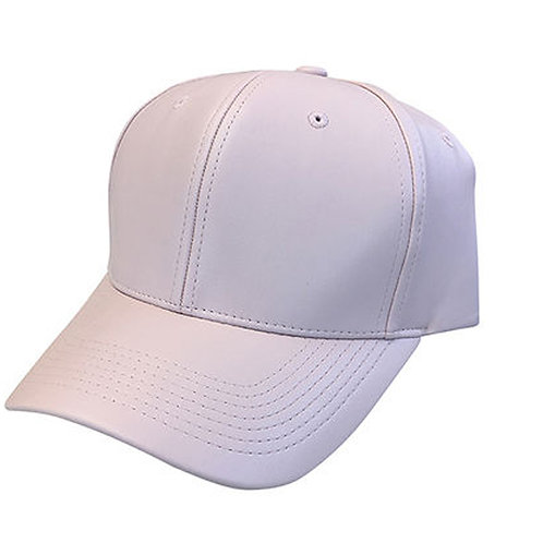Leather Lite Pink Solid Unisex Adjustable Low Profile Dad Hat Cap