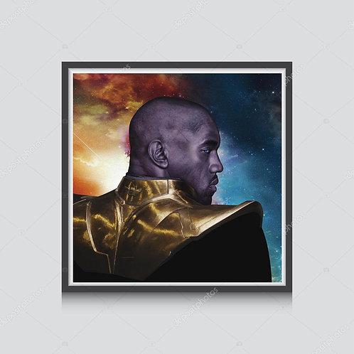 Kanye West Thanos Poster, Hypebeast Prints, Modern Pop Art Poster Music Poster