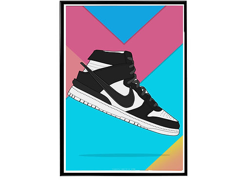 Ambush x Nike SB Dunk Black Sneaker Poster, Hypebeast Poster