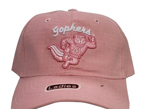 University of Minnesota Golden Gophers Pink Strap Back Hat Adjustable Dad Cap