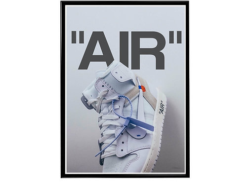Off White Sneaker Wt Poster, Hypebeast Poster, Modern Pop Art