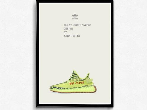 Yeezy Semi Frozen Sneaker Poster Pop Culture Hypebeast Poster Sne