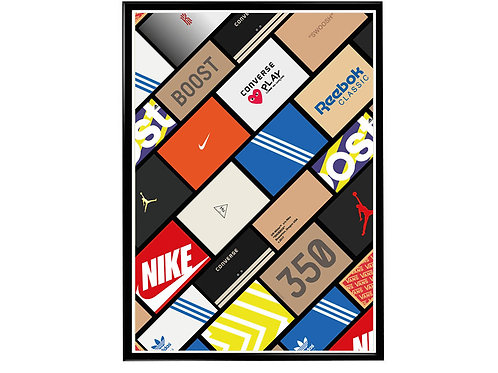 Sneaker Wall Poster, Hypebeast Poster, Modern Pop Art Poster, Pop Culture Poster