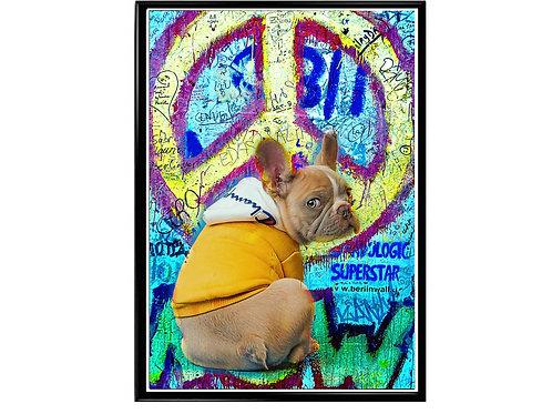 Hypebeast Dog Graffiti Peace Logo Poster Printable
