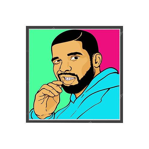 Drake Drawing Poster, Hypebeast Poster, Modern Pop Art Poster, Hip Hop Wall Art