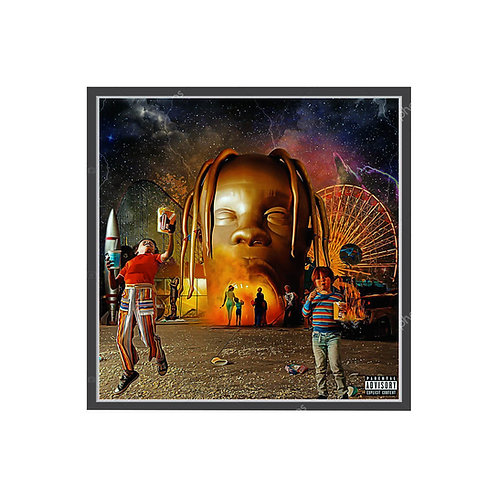 Travis Scott Astroworld Oil Paint Album Poster, Hypebeast Poster, Pop Culture