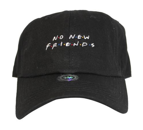 b80b9835cf4 No New Friends Black Drake 6 God OVO Low Profile Dad Hat