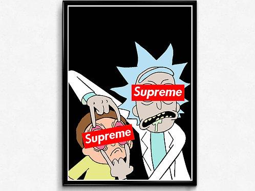 Supreme Future Poster, Hypebeast Poster Print, Pop Culture Poster Box Logo Art
