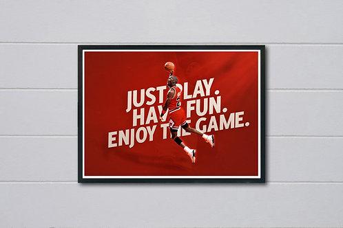 Nike Air Jordan Just Play Poster, Modern Wall Art, Hypebeast Sneaker Pos