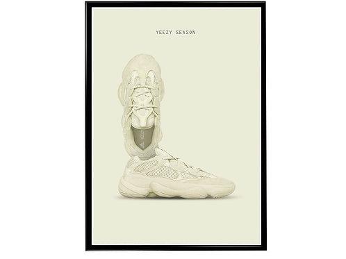 Yeezy Desert Rat Sneaker Poster Pop Culture Hypebeast Poster Sne