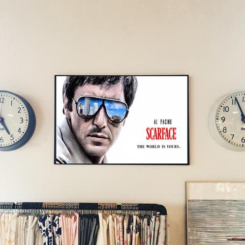 Scarface Al Pacino Style Movie Poster, Tony Montana, Pop Culture ...