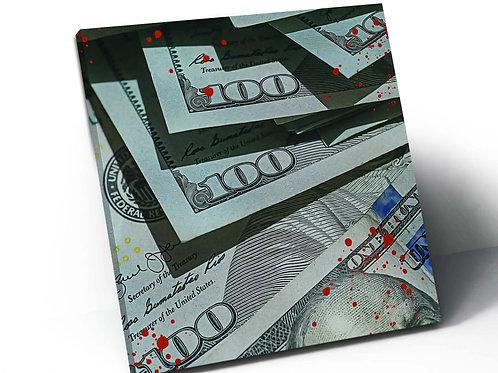 Blood Money Canvas Art, Hypebeast Prints, Motivational Art