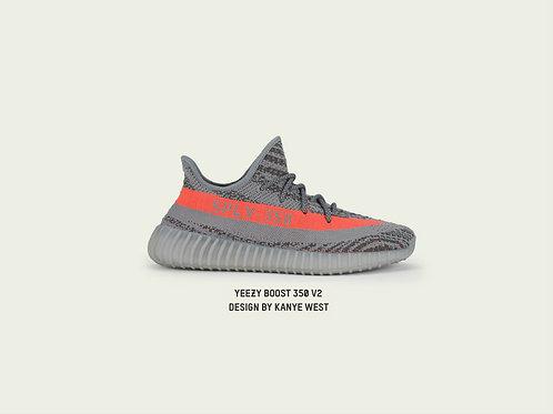 Yeezy Boost 350 V2 Beluga 1 Custom Kicks Sneaker 12x18 Poster Art