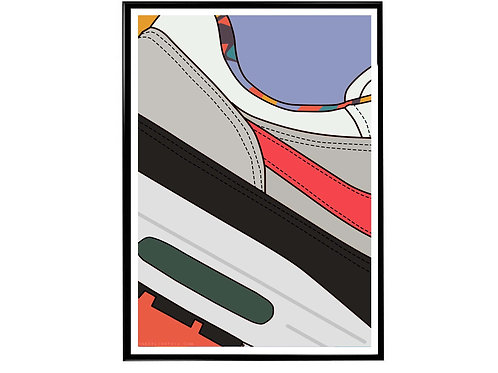 Live Together Play Together Air Max 90 Close Sneaker Poster, Hypebeast Poster