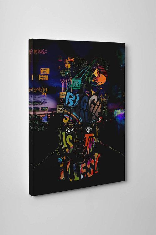Notorious Big Abstract Canvas Art Pop Culture Canvas Art Hypebeast Art