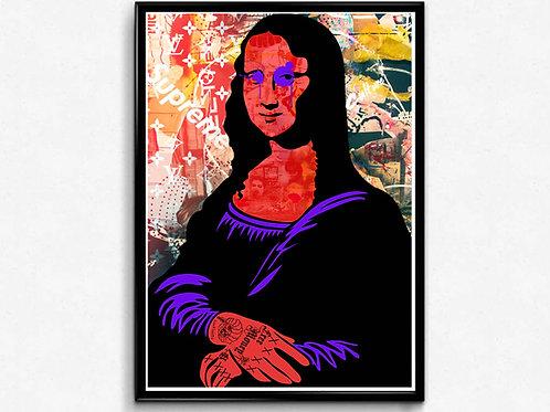 The Mona Graffiti Poster, Hipster Trendy Poster Print, Pop Culture Poster Art