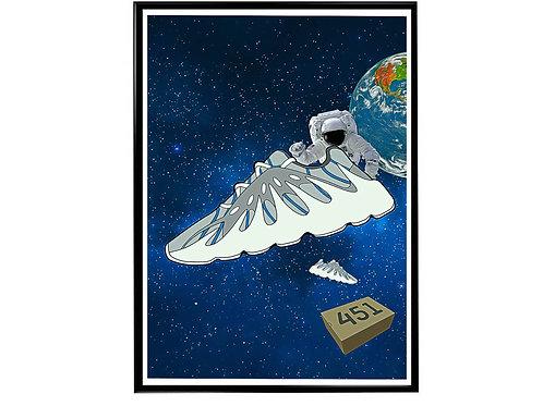 Yeezys In Space Sneaker Poster, Hypebeast Poster Kicks Poster