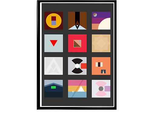 Kanye West Minimal Pallet Poster, Hypebeast Poster, Music Poster