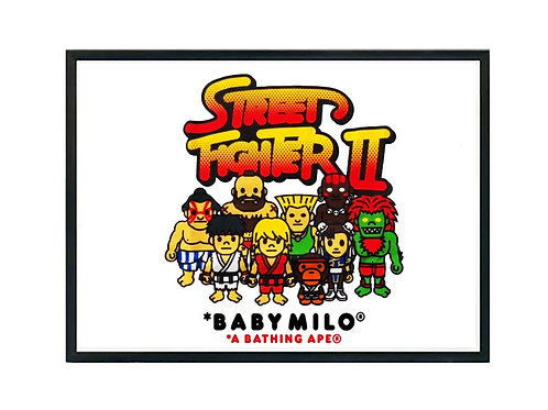 Baby Milo x Street Fighter Gang Poster Art, Hypebeast Poster Pop Culture Art