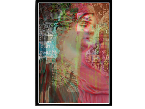 Classic Statue Poster, Hypebeast Poster, Modern Pop Art, Lil Peep Mixed Media