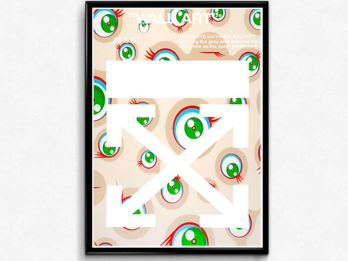 Off White Style Modern Wall Art Poster, Japanese Pop Culture Hypebeast Posters