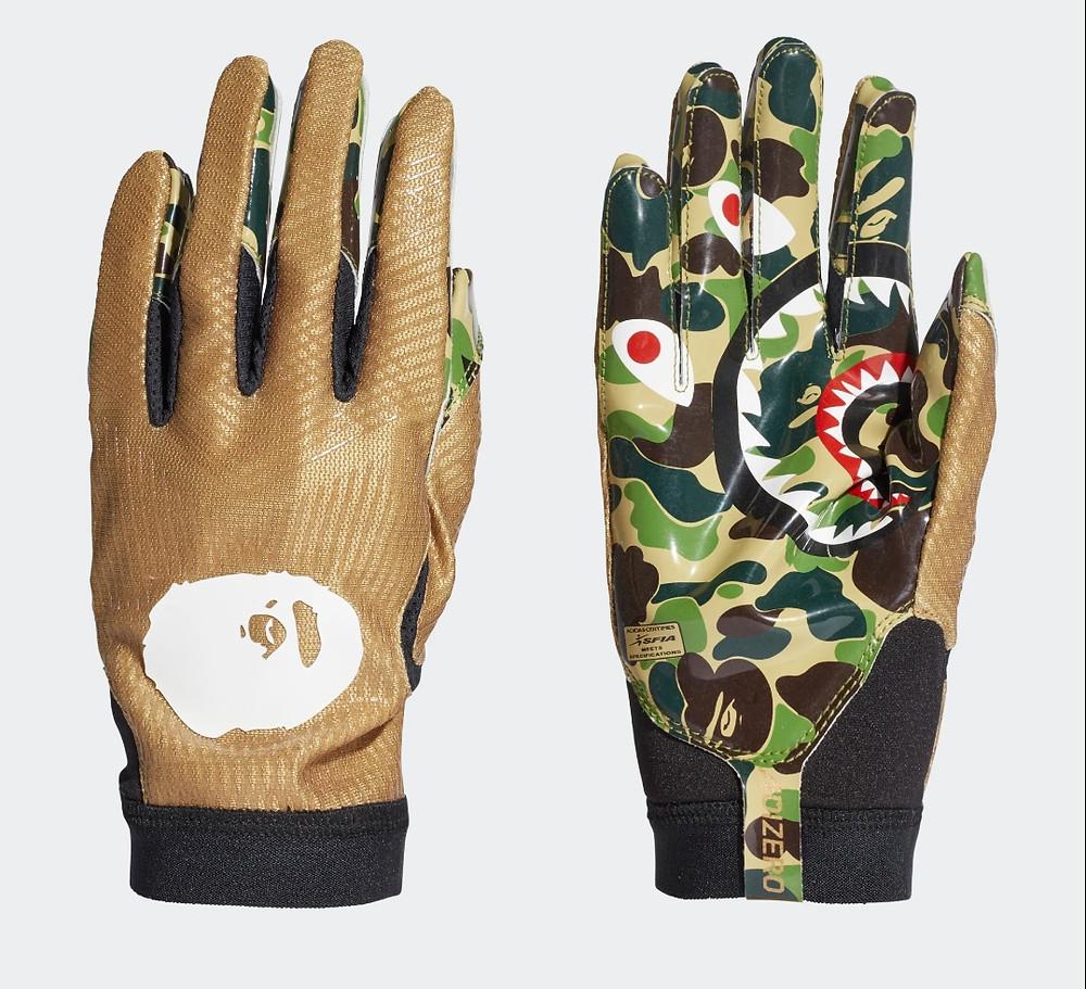 adidas x bape leather gloves