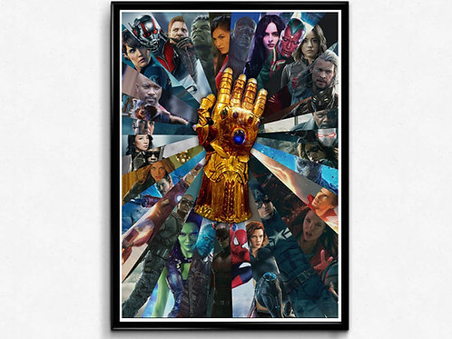 Infinity War Inspired Alternate Movie Poster, Avengers Movie Poster