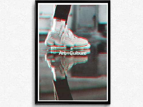 Art + Culture Boost Sneaker Poster, Hypebeast Poster, Modern Pop Art