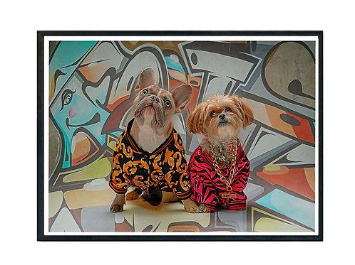 Hypebeast Dog Graffiti Couple Poster Printable