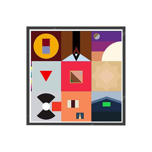 Kanye West Minimal Art Poster, Hypebeast Poster, Hip Hop Wall Art