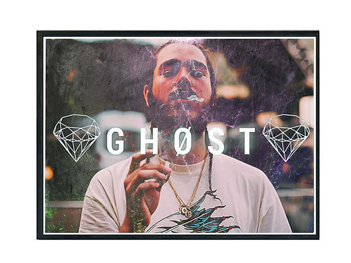 Post Malone Ghost Hip Hop Poster Printable