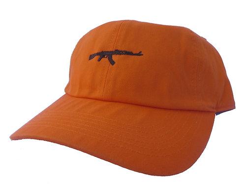 AK 47 Gun Hunter Orange Yeezus Emoji Meme Drake Twill Cotton Dad Hat