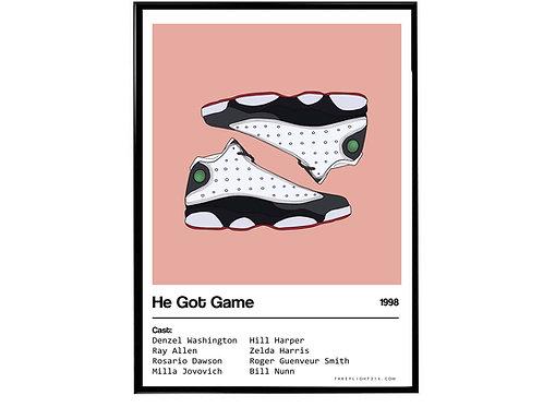 He Got Game Movie Air Jordan Sneaker Poster, Hypebeast