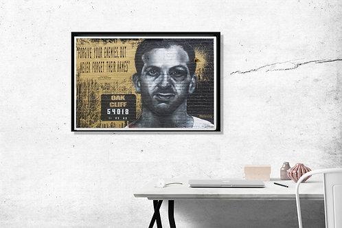 Urban Graffiti Poster, Lee Harvey Oswald Poster Art, JFK Style Wall Art