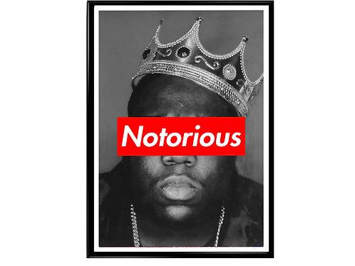 Notorious Big Box Logo Classic Hip Hop Poster Printable