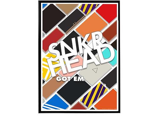 Sneaker Head Minimal Poster, Hypebeast Poster