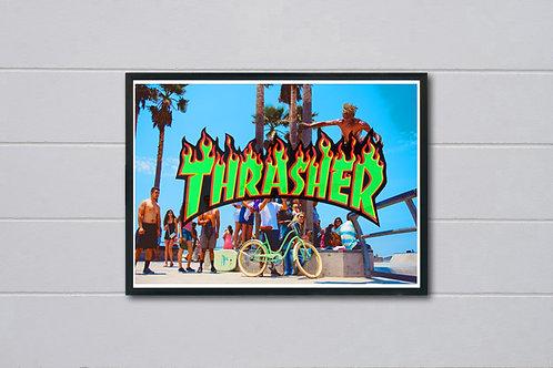 Thrasher Skate Park Inspired Poster, Hypebeast Poster Print, Pop Culture Art
