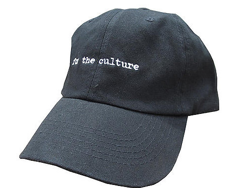 For The Culture Black Twill Cotton Dad Hat Cap