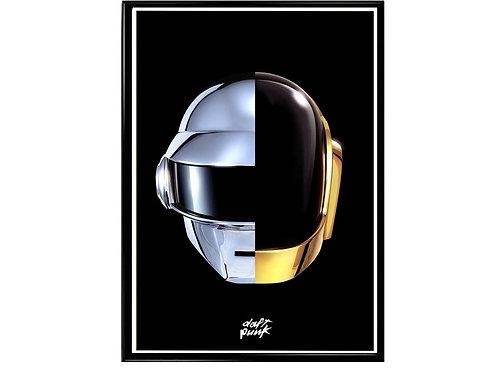 Daft Punk Mask Pop Music Poster Printable