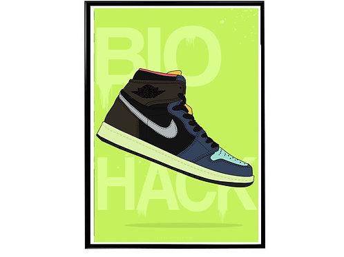 Air Jordan 1 Bio Hack Sneaker Poster, Hypebeast Poster Sneaker Art