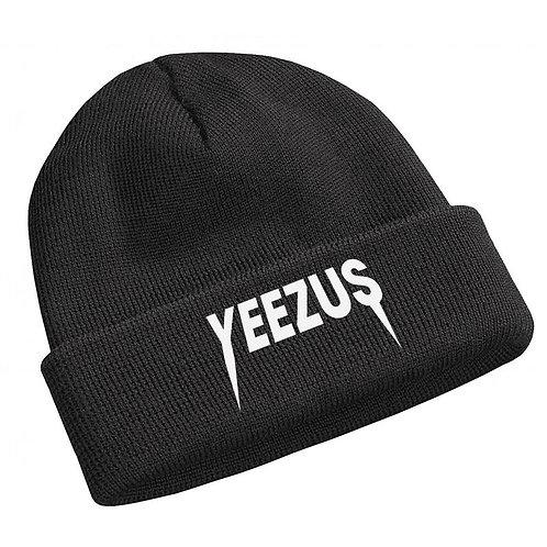 Yeezus Rock Font Black Kanye West Pablo TLOP Beanie Knit Cap Hat