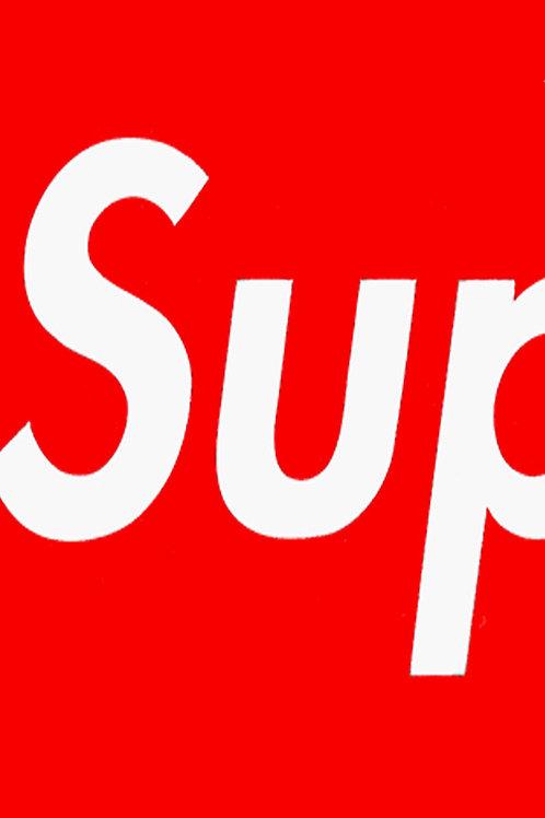 Box Logo Blowup Custom Kicks Sneaker 12x18 Poster Art