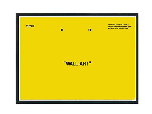 Off White Yellow Wall Art Poster, Hypebeast Poster, Modern Pop Art