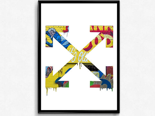 Off White Inspired Poster Art Hypebeast Poster, Pop Culture Wall Art