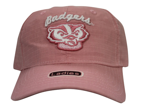 abbc5370 ... trucker cap 70be0 1de95 wholesale university of wisconsin badgers pink  strap back hat adjustable dad cap 04e0c cfe20 ...