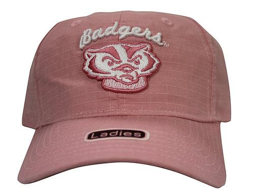 University of Wisconsin Badgers Pink Strap Back Hat Adjustable Dad Cap