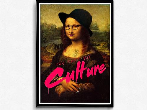 Hipster Mona Graffiti Poster, Trendy Poster Print, Pop Culture Poster Art