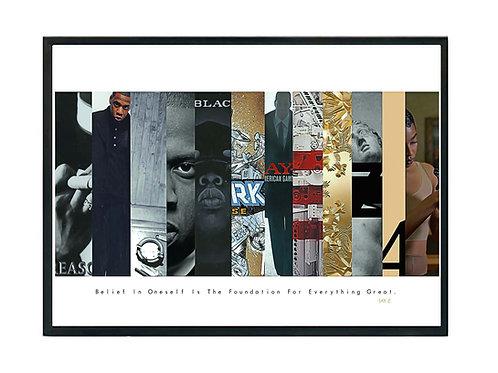 Jay Z Album History Poster, Hypebeast Poster, Kicks Pos