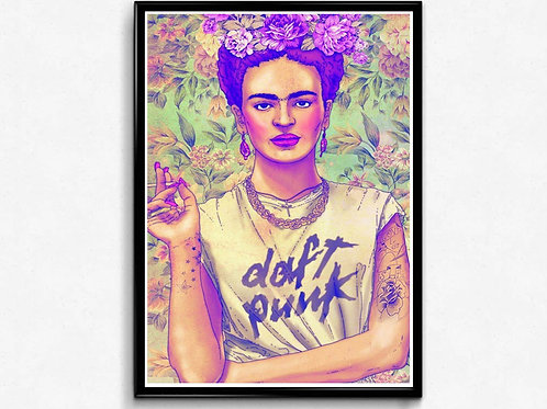 Frida Kahlo Drawing Poster, Hipster Trendy Poster Print, Pop Culture Poster Art